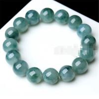100% Natural A Grade 10mm Green Jade Jadeite Round Gemstone Beads Bracelet 7.5''
