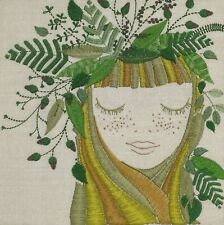 N887# 3 x Single Paper Napkins For Decoupage Tissue Big Head of Nature Lady Girl