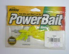 """Leurres BERKLEY POWER BAIT Power Twintail Grub 2"""" jaune par 7"""