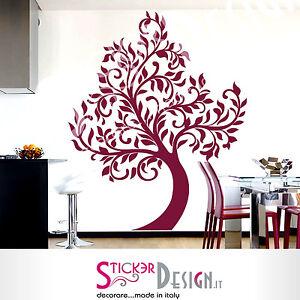 00907 Albero e orso Wall Stickers Sticker Adesivi Murali Decorativi 139x150cm