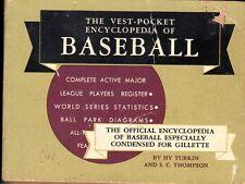 1956 Vest-Pocket Encyclopedia of BASEBALL ~ Hy Turkin, S.C. Thompson ~ Poor