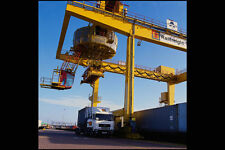 667047 Manchester Container Terminal Overhead Crane A4 Photo Print