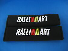 2 X RALLI ART Seat Belt Shoulder Cover Pads EMBROIDERED LOGO