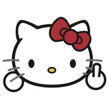 "HELLO KITTY BEING NAUGHTY WINDOW STICKER,DECAL (3.0"" HT x 4.0"" W)FREE USA SHIP"