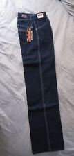 Womens Hippy Authentic 60s Vintage Brittania Denim Dark Blue Jeans Pants size 6!