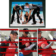 "BRAD JACOBS signed ""2014 SOCHI OLYMPICS"" 8X10 Photo PROOF (E) Gold Medal Curling"