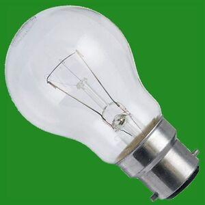 6x 100W CLEAR INCANDESCENT STANDARD FILAMENT GLS LIGHT BULBS BAYONET CAP BC, B22