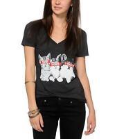 "Womens Juniors ""Turnt down for what"" Kitten Graphic Tee T-Shirt"