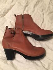 NWOB No. 6 Camel Tan Brown Clog Ankle Boot Booties 40 Heel