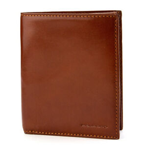 NEW Piquadro Brown Leather Wallet/Card Holder