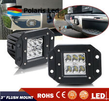 2x 3INCH LED OFFROAD LIGHT BAR 3X3 4WD SPOT BUMPER PODS FOG LAMP SQUARE