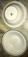 """NEWCOR STONEWARE SOUP/CEREAL BOWL 4027 SATELLITE BLACK 7-1/4"""" DIA. MADE IN CHINA"""
