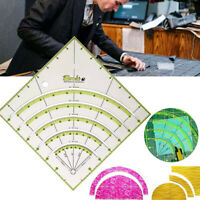 8 inch Arcs Fan Quilt Circle Cutter Ruler Patchwork Ruler Sewing Craft Tools;su