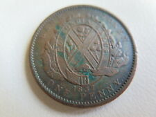 1837 Bank Token One 1 Penny  Canada Copper Coin Province (#89)