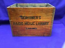 Antique Scribners Radio Music Library Shipping Crate Dove Tail Box 1930's Nice !