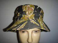 Vietnam War Special Forces Adviser Gold Tiger Stripe Short Brim Boonie Hat 7 1/2