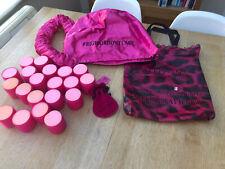 Sleep-in Hair Rollers 20 Pink Multi Glitter Gift Set