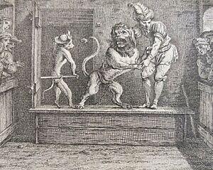 Horoscope du lion Claude GILLOT (1673-1722) gravure 1719 France