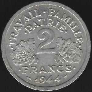 1944 B France 2 Francs Coin | European Coins | Pennies2Pounds