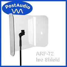 Post Audio ARF-72 NEWAcrylic Isolation Shield - Mounts On Standard Mic Stand