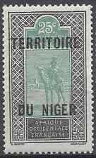 FRANCE COLONIE NIGER N°8 - NEUF ** LUXE AVEC GOMME D'ORIGINE - COTE 1€
