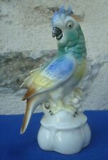 V41 Statue Perroquet Cacatoes Porcelaine Tiefenfurt Silesie oiseau saxe