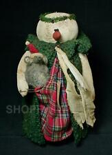 Rags A. Muffin Primitive Snow Lady with Santa Mouse
