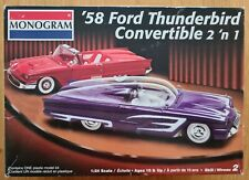 MONOGRAM '58 FORD THUNDERBIRD 2'N 1 1/24 Scale Model Kit. SUPER RARE!