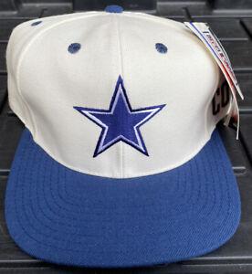 NWT Vintage 90s Dallas Cowboys Reebok Plain Logo Snapback Hat Cap NFL Wool Blend