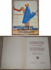 Guide the Cote d'Azur and the Coast of Flowers ITALIAN LINE Genova pour 1935