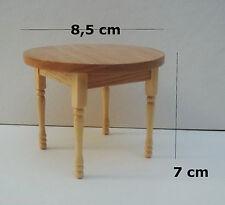 table ronde en bois miniature,maison de poupée, vitrine,meuble,ronde tafel   *M3