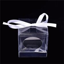 50x Transparent Square Candy Gift Boxes Favor Packings Souvenir Box #HD3