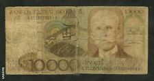 BRAZIL-BANCO CENTRAL DO BRASIL 10,000 DEZ MIL CRUZEIROS *9684A PAPER MONEY