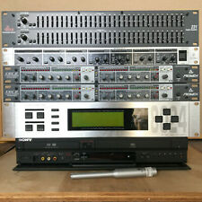 2x CEL2 Compressors, dbx 231 Dual EQ, 8024 EQ/Analyzer, MX882 Mixer/DA, VCR/DVD