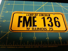 Illinois Bicycle plate - FME 136 - 1975 Novelty Metal Bike plate