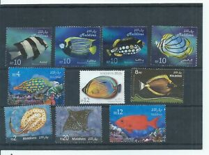 Maldives stamps.  2006 Fish used & 3 of the Rays.  (P206)