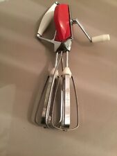 Vintage Prestige Stainless Steel & Red Hand Whisk #311