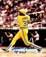 Dave Parker autographed signed inscribed 8x10 photo MLB Pittsburgh Pirates PSA