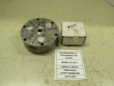 """MICROCENTRIC 6"""" 3 JAW AIR CHUCK WITH NEW JAWS- LOT #237"""