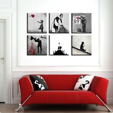 "TIME4ART BANKSY CANVAS LOVE DOCTOR HOPE PRINT GICLEE SET 6 PCS 16""x16"" inch ART"