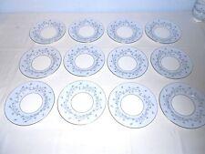 """12 Minton S645 Grey Mist 6 1/4"""" Bread Plates ~ Platinum Set! ~ Excellent"""