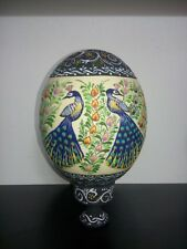 Painted Ostrich Egg Shell Natural Grade A With A Stand