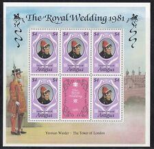 Antigua 1991 Minifoglio Matrimonio Reale mf 625 Mnh