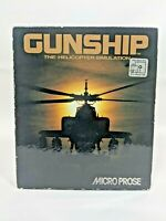 """Gunship The Helicopter Simulation Big Box PC Video Game 3.5"""" Diskette Only"""