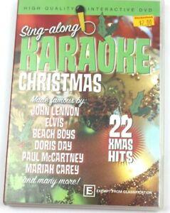 KAROKE CHRISTMAS DVD SONGS (22 X'MAS HITS) - VERY GOOD CONDITION
