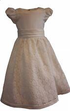 Girls Party / Christening / Flower Girl Dress Ivory Age 10