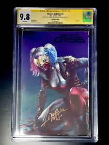 DC Comics HEROES IN CRISIS #1 CGC 9.8 Mattina Signed NYCC 2018 Exclusive Foil