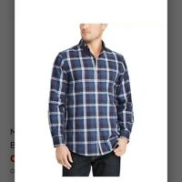NWT $55 Men's Chaps Classic-Fit Easy-Care Plaid Twill Shirt Size XXL