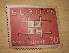 FRANCOBOLLO POSTE ITALIANE EUROPA CEPT L.30 - VIAGGIATO 1963