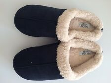 Trulee Men's Slippers House Shoe US 11-12 XL Navy Lined Inside Christmas Gift